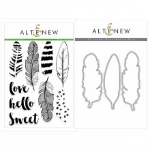 Altenew Golden Feather Stamp & Die Bundle - 12 Pieces