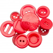 Button Jar 4oz - Red