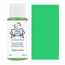 Super Smooth Fabric Paint- Bright Green 30ml