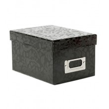 2 Box - Black Floral Vine Storage Box Pack of 2 Boxes By American Crafts