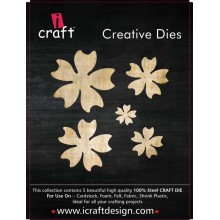 Icraft Flower Making Creative Dies Set Of Five M14