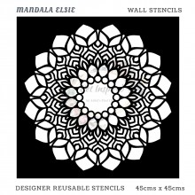 Mandala Elsie Home Decor Designer Reusable Stencil 45cmsx45cms