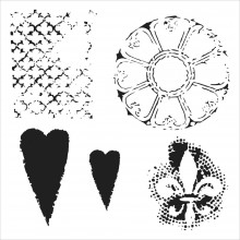 "Stencil Crafter's Workshop Template 6""X6"" - GOTH ROMANCE"