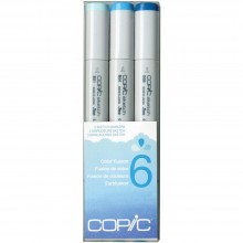 Copic Sketch Color Fusion Markers 3/Pkg Set 6: B01-S, B04-S and B06-S.