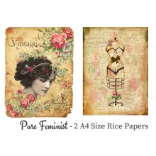 Pure Feminist Pack of 2 Rice Paper A4 By Get Inspired