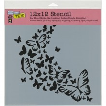 "Crafter's Workshop Template 12""X12"" - Butterfly Trail"
