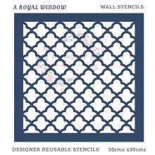 A Royal Window Home Decor Designer Reusable Stencil 35cmsx35cms