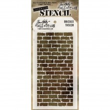 "Bricked Stencil By Tim Holtz 4.125""X8.5"""