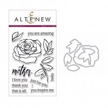 Altenew Penned Rose Stamp & Die Bundle - 18 Pieces
