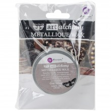 Metallique Wax Old Silver-0 .68 Fluid Ounce By Finnabair Art Alchemy