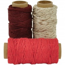 Cherry Lucky Dip Mixed Hemp Cord 1.0mmX21m 3/Pkg
