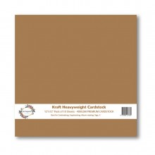 "Premium Kraft Cardstock 12""x12""- 400gsm By Get Inspired"