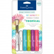 Mix & Match Gelatos Designer Tropical Series 4/Pkg By Faber Castell