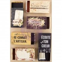 The Archivist Matchboxes 6/Pkg By Prima Marketing