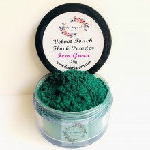 Fern Green Velvet Touch Flock Powder By Get Inspired- 25ml Jar