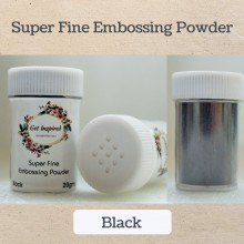 Black Super Fine Embossing Powder By Get Inspired