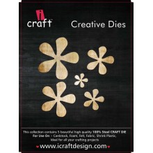 Icraft Flower Making Creative Dies Set Of Five M9
