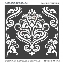 Damask Arabella Home Decor Designer Reusable Stencil 45cmsx45cms