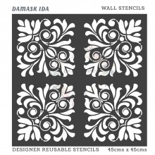 Damask Ida Home Decor Designer Reusable Stencil 45cmsx45cms