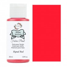 Super Smooth Fabric Paint- Signal Red 30ml