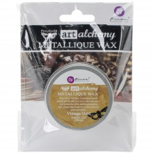 Metallique Wax Vintage Gold-0 .68 Fluid Ounce By Finnabair Art Alchemy