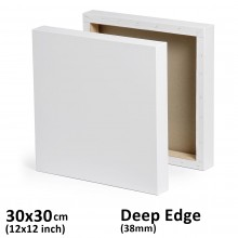 "12""x12"" Deep Edge All Media Cotton Stretched Canvas 1-1/2"" Deep"