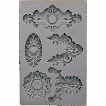 "Escucheons #2 Iron Orchid Designs Vintage Art Decor Mould 5""X8"""