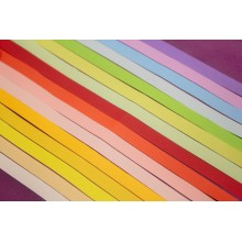 Premium Quality Quilling Strips Pack of 2,  16 Decent Colors Assorted 18inchX7mm 320 Strips