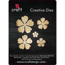 Icraft Flower Making Creative Dies Set Of Five M7