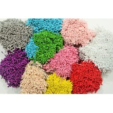 Bright Assorted 10 Colors Pack 2mm Head Size Flower making Stamens 4500 Pollens Super Value pack