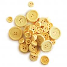 Buttons Assorted 40/Pkg - Natural Craftwood Craft