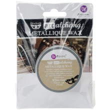 Metallique Wax White Gold-0 .68 Fluid Ounce By Finnabair Art Alchemy