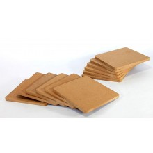 DIY Coasters Set of 8 for DIY Activities MDF 4X4inch (Thickness 3.5mm)