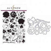 Altenew Vintage Flowers Stamp & Die Bundle - 57 Pieces