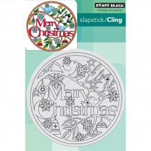 "Cling Stamps Christmas In The Round Penny Black 4""X6"""