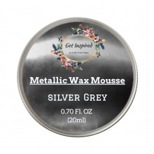 Silver Grey Metallic Wax 20ml Tin by Get Inspired