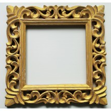 "Gold Vine Carved Vintage Square Frame 12""x12"""