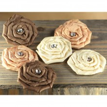 Fabric Flowers Mocha - Allure