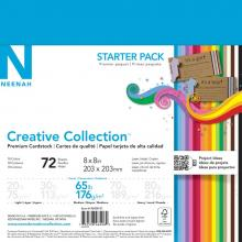 "Cardstock Starter Pack 8""X8"" 72/Pkg Creative Collection"