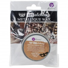 Metallique Wax Aged Brass-0 .68 Fluid Ounce By Finnabair Art Alchemy