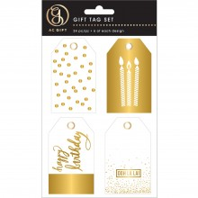 Tag Set Gold Foiled Pack of 24 Tags By American Crafts