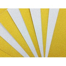 "Soft Silver & Jazzy Yellow Gold Glitter Cardstock 9""x12"" size Pk/12 Sheets by Get Inspired"