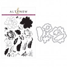 Altenew Peony Bouquet Stamp & Die Bundle - 31 Pieces