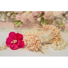 Matte Baby Peach 2mm Head Size Flower making Stamens Stiff Thread Pollens