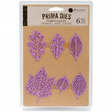 Forest Leaves 6/Pkg Prima Marketing Purple Metal Die