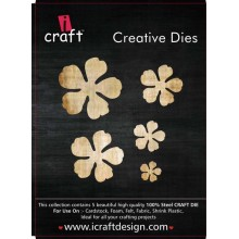 Icraft Flower Making Creative Dies Set Of Five M10