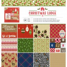 "Paper Pad Christmas Lodge Single-Sided American Crafts  12""X12"" 24/Pkg"