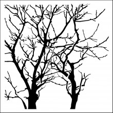 "Stencil Crafter's Workshop Template 12""X12"" - Branches Reversed"