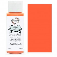 Super Smooth Fabric Paint- Bright Tangelo 30ml
