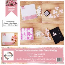 "The Secret Garden Cardstock for Flower Making 12""x12"" Pack of 10 Sheets"